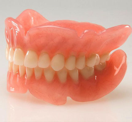 False teeth dentures